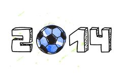 World Cup football background Royalty Free Stock Image