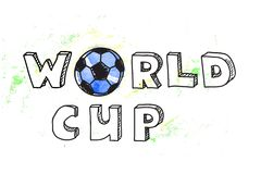 World Cup football background Stock Image
