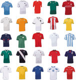 World Cup football jersey. An impression of the jerseys of some of the national soccer teams competing at the 2010 FIFA world cup finals in south africa Royalty Free Stock Photo