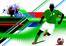 World Cup football Poster Stock Image