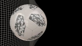 World cup football rotating in net. Fifa world cup 2018 official football shot and rotating in net stock illustration
