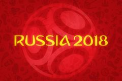 World Cup Football 2018 Wallpaper Royalty Free Stock Photos