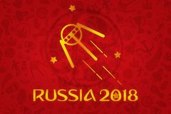 World Cup Football 2018 Wallpaper Royalty Free Stock Image