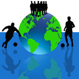 World Cup Footballers Vector Stock Photo
