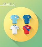 World cup group d  with jerseys Stock Photos