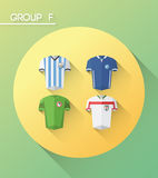 World cup group f  with jerseys Stock Photo