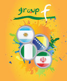 World cup group f. On yellow background Royalty Free Stock Photo
