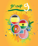 World cup group g. On yellow background Royalty Free Stock Image