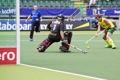 World Cup Hockey: Australia vs Spain Stock Images