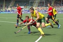 World Cup Hockey: Australia vs Spain Stock Photos