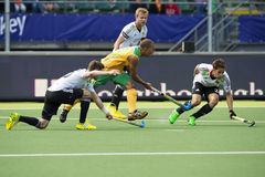 World Cup Hockey 2014: Germany vs South Africa Stock Photos