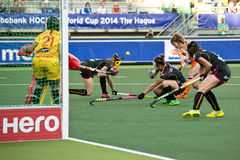 World Cup Hockey: Netherlands - Belgium Stock Photo