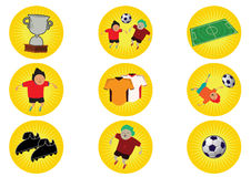 World Cup Illustration in Vector. World Cup Soccer Concept Illustration in Vector vector illustration