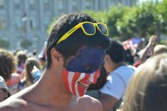 World Cup 2014 Madness In California Royalty Free Stock Image