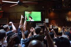 World Cup 2014 Madness In California Stock Photo