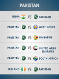 World Cup 2015 matches schedule. Royalty Free Stock Image