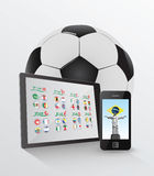 World cup on media device concept. On white background Stock Images