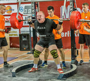 The 2014 world Cup powerlifting AWPC in Moscow. Stock Photo