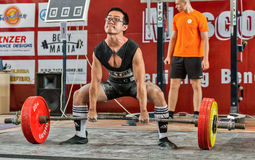 The 2014 world Cup powerlifting AWPC in Moscow. Stock Photos