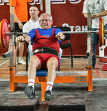 The 2014 world Cup powerlifting AWPC in Moscow. Royalty Free Stock Photos