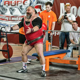 The 2014 world Cup powerlifting AWPC in Moscow. Stock Photography