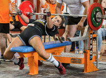 The 2014 world Cup powerlifting AWPC in Moscow. Stock Image