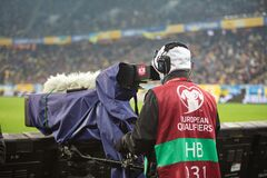 The World Cup Qualification UEFA, Football match between Ukraine and Bosnia and Herzegovina