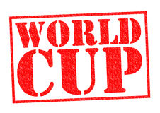 WORLD CUP. Red Rubber Stamp over a white background Stock Photos