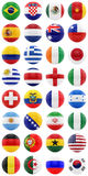 World Cup. Render of footballs with flags of all the countries participating in the World Cup 2014, isolated on white Royalty Free Stock Photos