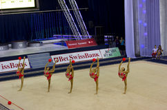 World Cup of Rhythmic Gymnastics 2012 Stock Images