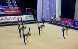 World Cup of Rhythmic Gymnastics 2012 Royalty Free Stock Photography