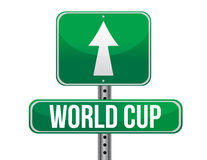 World cup road sign Royalty Free Stock Photography