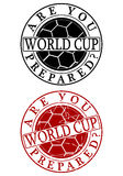 World cup rubber stamp Stock Image