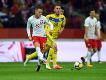 World Cup Rusia 2018 qualification match Poland - Kazakhstan Stock Images