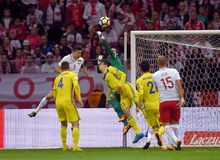 World Cup Rusia 2018 qualification match Poland - Kazakhstan Royalty Free Stock Image
