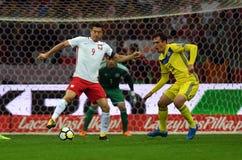 World Cup Rusia 2018 qualification match Poland - Kazakhstan Stock Photos