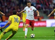 World Cup Rusia 2018 qualification match Poland - Kazakhstan. 4 SEPTEMBER, 2017 - WARSAW, POLAND: Football World Cup Rusia 2018 qualification match Poland Royalty Free Stock Photo