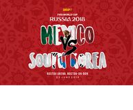 World Cup russia 2018 Grup f mexico vs south korea. A schedule grup F world cup 2018, mexico vs south korea royalty free illustration