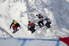 World Cup snowboard cross Royalty Free Stock Photo