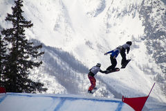 World Cup Snowboarding Royalty Free Stock Images