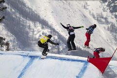 World Cup Snowboarding Stock Photography