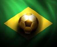 World Cup 2014. Soccer ball on  flag of Brazil, World Cup 2014, eps 10 Stock Image