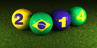 World Cup soccer Brazil 2014. World Cup soccer football Brazil 2014 Royalty Free Stock Photography