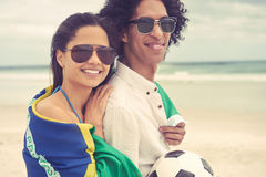 World cup soccer couple Royalty Free Stock Photo