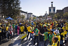 World Cup Soccer Fever Grips Sandton Stock Image