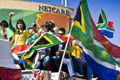 World Cup Soccer Fever Grips Sandton Royalty Free Stock Images