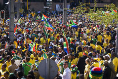 World Cup Soccer Fever Grips Sandton. Hordes of spectators come out o show support Stock Photo