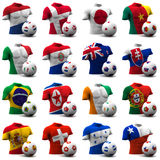 World Cup Soccer - South Africa 2010. XXXL 3D render of Groups E to H participating in the World Cup 2010 tournament to be held in South Africa. Athletic torso royalty free illustration