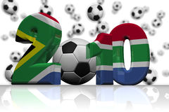 World Cup South Africa Flag 2010. Royalty free stock image of a XXXL Large 3D render of the 2010, in the colours of the South African Flag, isolated on white royalty free illustration