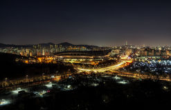 World cup stadium in seoul taken at night Royalty Free Stock Photography